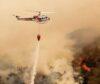 शिवपुरी–नागार्जुन निकुञ्जको डढेलो निभाउन हेलिकप्टरबाट पानी